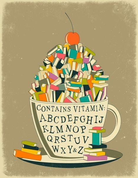 Чаша пълна с книги